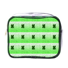 Shamrock Pattern Background Mini Toiletries Bags