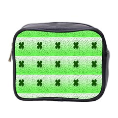 Shamrock Pattern Background Mini Toiletries Bag 2 Side