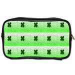 Shamrock Pattern Background Toiletries Bags 2-Side Front