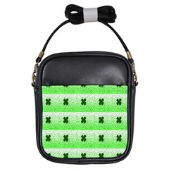 Shamrock Pattern Background Girls Sling Bags