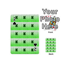 Shamrock Pattern Background Playing Cards 54 (mini)