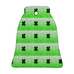 Shamrock Pattern Background Bell Ornament (two Sides)