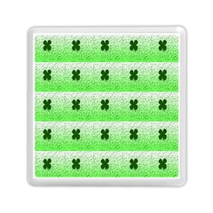Shamrock Pattern Background Memory Card Reader (square)