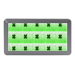 Shamrock Pattern Background Memory Card Reader (mini)