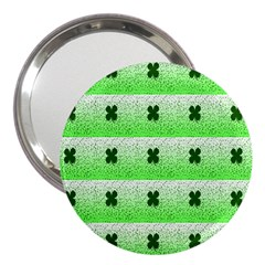 Shamrock Pattern Background 3  Handbag Mirrors