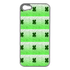 Shamrock Pattern Background Apple Iphone 5 Case (silver)