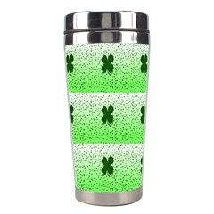 Shamrock Pattern Background Stainless Steel Travel Tumblers by Nexatart