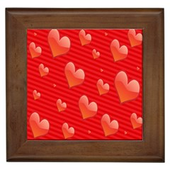 Red Hearts Framed Tiles