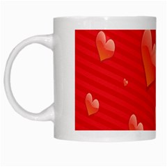 Red Hearts White Mugs
