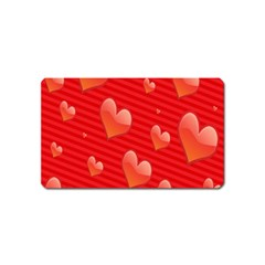 Red Hearts Magnet (name Card)