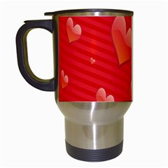 Red Hearts Travel Mugs (white)