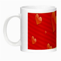 Red Hearts Night Luminous Mugs