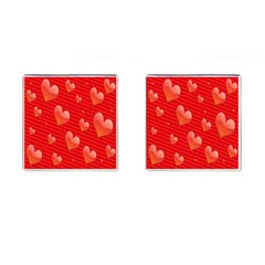 Red Hearts Cufflinks (square)
