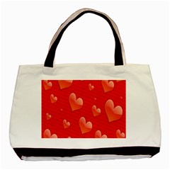 Red Hearts Basic Tote Bag