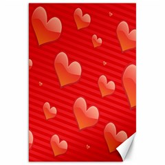 Red Hearts Canvas 20  X 30