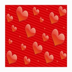 Red Hearts Medium Glasses Cloth (2 Side)