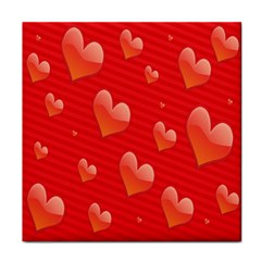 Red Hearts Face Towel