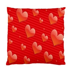 Red Hearts Standard Cushion Case (two Sides)