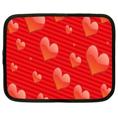 Red Hearts Netbook Case (xl)