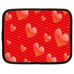 Red Hearts Netbook Case (xxl)