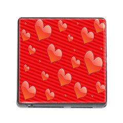 Red Hearts Memory Card Reader (square)