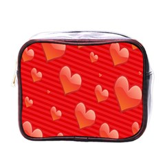 Red Hearts Mini Toiletries Bags