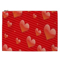 Red Hearts Cosmetic Bag (xxl)