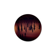 Silhouette Of Circus People Golf Ball Marker
