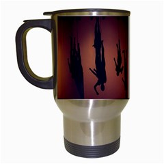 Silhouette Of Circus People Travel Mugs (white)