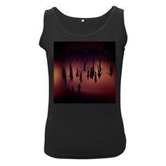 Silhouette Of Circus People Women s Black Tank Top