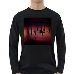 Silhouette Of Circus People Long Sleeve Dark T Shirts