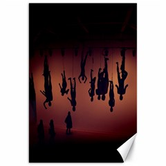 Silhouette Of Circus People Canvas 20  X 30