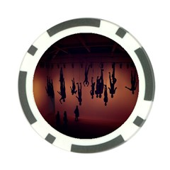 Silhouette Of Circus People Poker Chip Card Guard