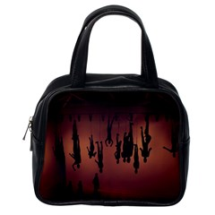 Silhouette Of Circus People Classic Handbags (one Side)