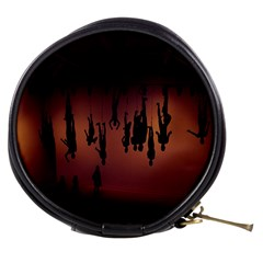 Silhouette Of Circus People Mini Makeup Bags