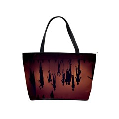 Silhouette Of Circus People Shoulder Handbags