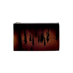 Silhouette Of Circus People Cosmetic Bag (small)