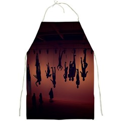 Silhouette Of Circus People Full Print Aprons
