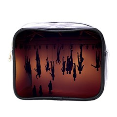 Silhouette Of Circus People Mini Toiletries Bags