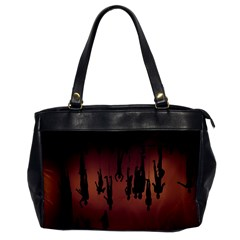Silhouette Of Circus People Office Handbags