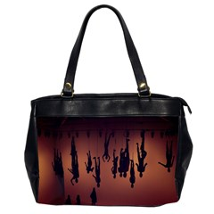 Silhouette Of Circus People Office Handbags (2 Sides)