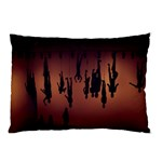 Silhouette Of Circus People Pillow Case (Two Sides) Back