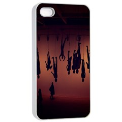 Silhouette Of Circus People Apple Iphone 4/4s Seamless Case (white)