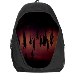 Silhouette Of Circus People Backpack Bag