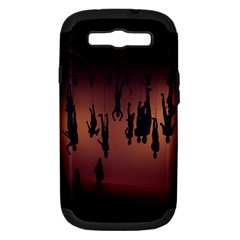 Silhouette Of Circus People Samsung Galaxy S Iii Hardshell Case (pc+silicone) by Nexatart