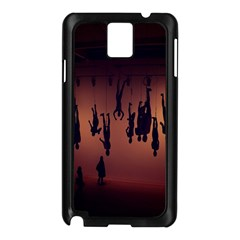 Silhouette Of Circus People Samsung Galaxy Note 3 N9005 Case (black) by Nexatart