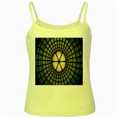 Stained Glass Colorful Glass Yellow Spaghetti Tank