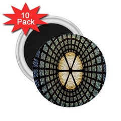 Stained Glass Colorful Glass 2 25  Magnets (10 Pack)