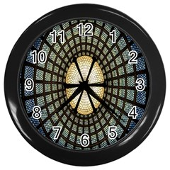 Stained Glass Colorful Glass Wall Clocks (black)