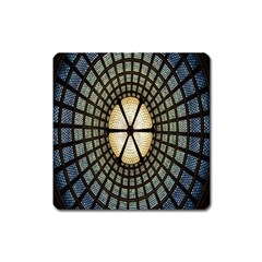 Stained Glass Colorful Glass Square Magnet